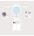 Set of bathroom and personal hygiene icons vector image vector image