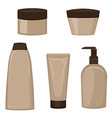 Set of cosmetic containers vector image