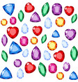 set of realistic jewels colorful gemstones vector image