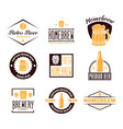 set of vintage logo badge emblem or logotype vector image
