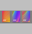set posters with bright abstract flowing vector image