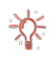 sketch light bulb icon in comic style hand drawn vector image vector image