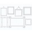 Sketched Doodle Frames vector image