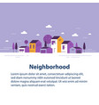 small town tiny village view row houses vector image