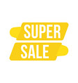 super sale discount yellow tag flat vector image vector image