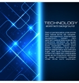 Technology background with space for your text vector image vector image