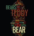 teddy bear songs and poems text background word vector image vector image