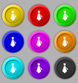 tie icon sign symbol on nine round colourful vector image vector image