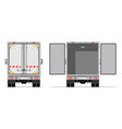 truck trailer rear view side vector image