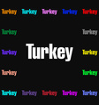 Turkey icon sign Lots of colorful symbols for your vector image vector image