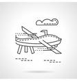 UAV thin line icon vector image vector image