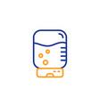 water cooler bottle line icon still aqua sign vector image vector image