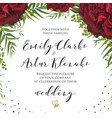 wedding floral watercolor invite invitation card vector image vector image
