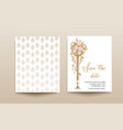 wedding template card vector image vector image