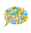 collection of color speech bubble icons vector image