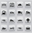 set of 16 editable shipment icons includes vector image