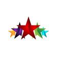 5 five star logo design premium good rate symbol vector image vector image