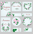 a set of invitations with ornament in the slavic vector image vector image