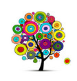 abstract circles tree sketch for your design vector image vector image