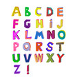 abstract memphis alphabet vector image