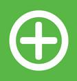 additional plus icon symbol design vector image