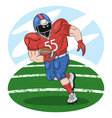 American football player with a ball vector image vector image