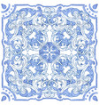 azulejos portuguese watercolor vector image