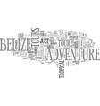 belize adventure tours text word cloud concept vector image vector image