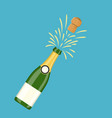 bottle of champagne explosion vector image vector image