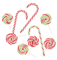 Candy Canes Set4 vector image vector image