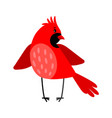 cardinal bird icon isolated on white vector image vector image