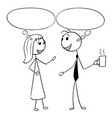 cartoon man and woman business people talking vector image vector image