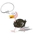 Cartoon Ostrich vector image vector image