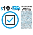 Checkbox Rounded Icon With Medical Bonus vector image vector image