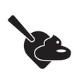 clean up poop after your animal concept isolated vector image