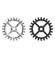 clock gear composition of service tools vector image