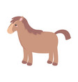 cute animal horse cartoon isolated white vector image vector image