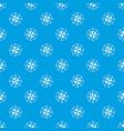 diamond gemstone pattern seamless blue vector image