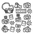 doodle cameras vector image vector image