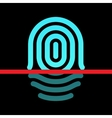 Fingerprint identification system - whorl type vector image vector image