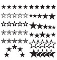 five-star symbols isolated on a white background vector image