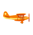 flat style of plane vector image vector image
