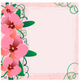 Floral background with orchid eps10 vector | Price: 1 Credit (USD $1)