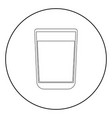 glass with fluid the black color icon in circle vector image