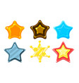 glossy colorful stars set game user interface vector image vector image