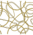 gold chain hand drawn seamless pattern vector image vector image