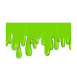 green flowing mucus sticky toxic halloween design vector image