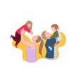 happy family joyful meeting kids time concept vector image vector image