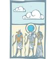 Hieroglyph Clouds vector image vector image