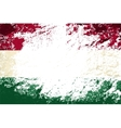 Hungarian flag Grunge background vector image vector image
